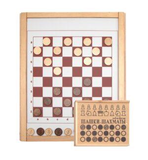 Игровая панель «Шашки-шахматы»